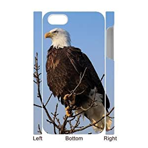Bald Eagle Unique Design 3D Cover Case for Iphone 4,4S,custom cover case ygtg579688