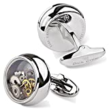 Dich Creat Unisex Stainless Steel Funy Gear Watch Parts Steampunk Movement Cufflinks for Ornamental