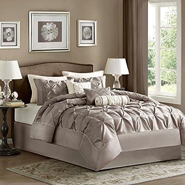Madison Park Laurel Comforter Set, King, Taupe