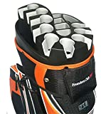 Founders Club Premium 14 Way Organizer Cart Bag (Orange)