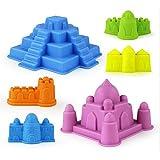 Dongcrystal Sand Molding Tools 6 Pcs Castle Building Model Beach Toys