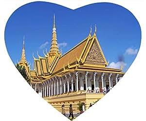 Beautiful World White Heart Shaped Mouse Pad - Royal Palace