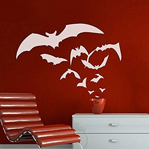 Goth Halloween Wall Art Horror Halloween Wall Graphics Bats Vinyl,Dark)