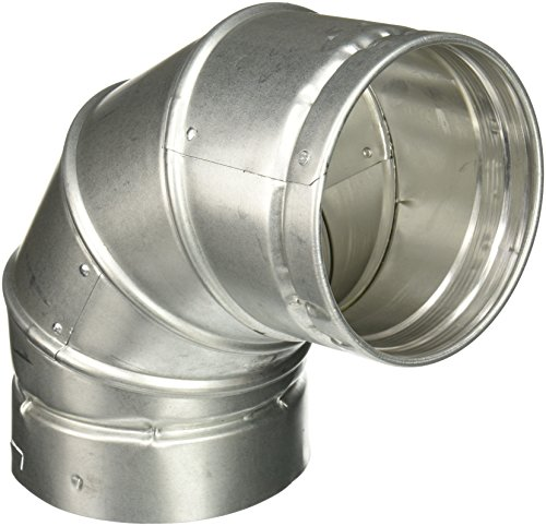 SELKIRK CORP 105230 Adjustable 90DEG Elbow, (Galvanized Round Elbow)
