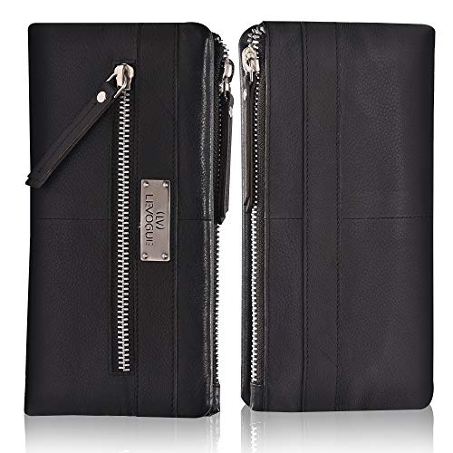 Levogue Soft Flexible Leather RFID Wallet For Women