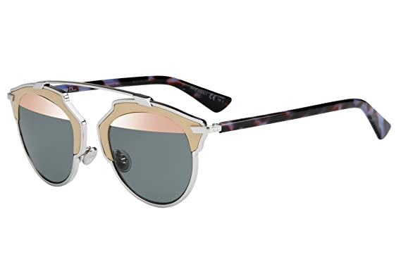 b1f92ee5c0 Amazon.com  Dior So Real Leather Trim Metal Sunglasses 48mm Palladium Beige  Mauve Havana P7RZJ  Clothing