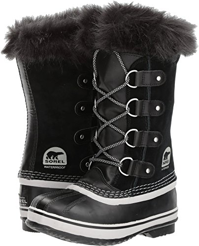Sorel Youth Snow - SOREL Youth Joan of Arctic Snow Boot, Black/Oyster, Size 1 Little Kid US