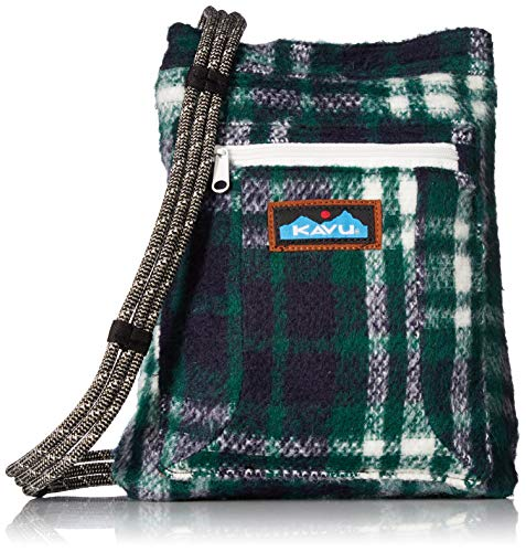 KAVU Keepon Keepin Plaid Semi Padded Sling Lightweight Rope Crossbody Bag - Northwest
