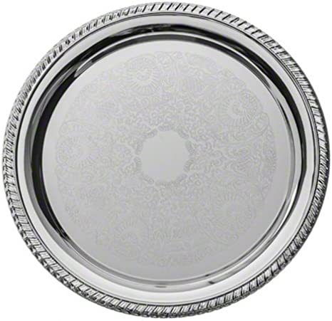 American Metalcraft Affordable Elegance Series STOV96 9-1//2 x 6-3//4 Oval Chrome Serving Tray
