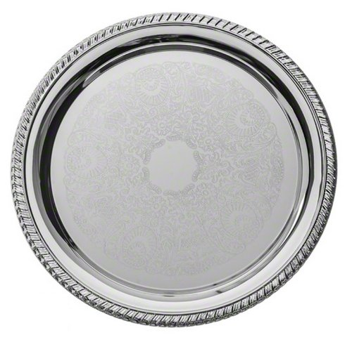 American Metalcraft STRD210 Affordable Elegance Chrome Round Serving Tray, 10-Inch, Silver by American Metalcraft