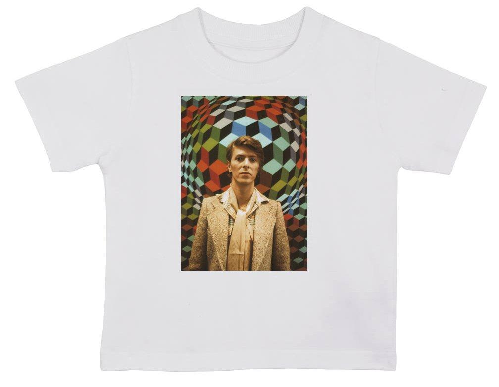 David Bowie Geometric Children T Shirt 2-3 years old White Vintage Magazine Company
