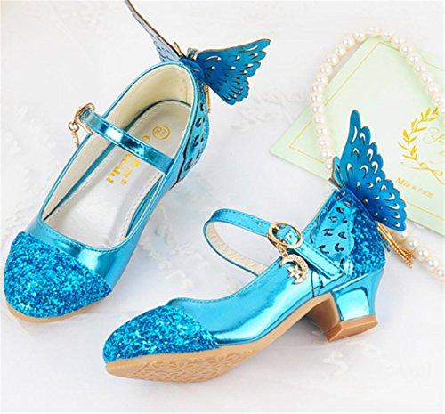YOGLY Zapatos de Tacones Para Niñas Zapatos Princesa de Lentejuelas con Alas  Zapatilla de Baile Sandalias Para Niños  Amazon.es  Zapatos y complementos bed81e582250