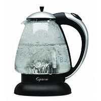 Hervidor de agua Capresso 259.04 H2O Plus, plata mate, 48 onzas