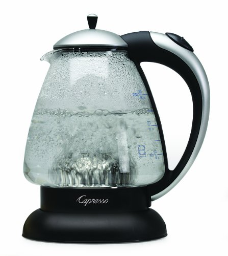 (Capresso 259.04 H2O Plus Water Kettle, Matte Silver,)