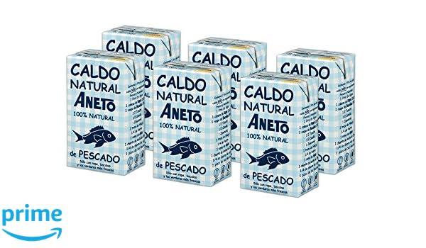 Aneto 100% Natural - Caldo de Pescado - caja de 6 unidades de 1 ...