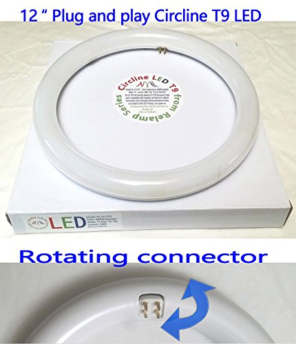 12 inch Circline T9 daylight LED directly relamp fluorescent FC12T9 bulb without rewiring with rotating connector