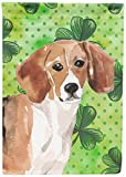 Cheap Caroline's Treasures BB9544GF Beagle St. Patrick's Decorative Garden Flag, Multicolor