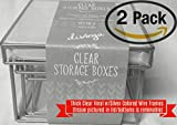 Divoga Clear Small Storage Boxes, Metal and Flexible Vinyl, Nesting (418-292/Multipack of 2 Sets of 3/6 Total Boxes)