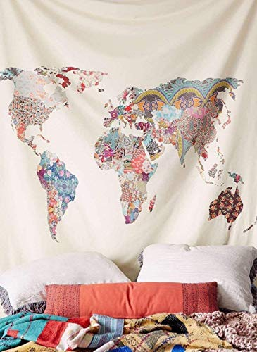 Price comparison product image Arfbear World Map Tapestry