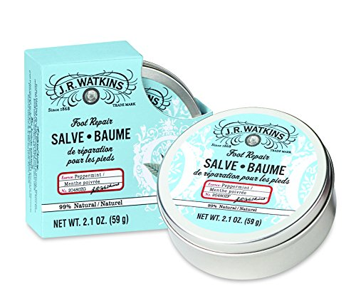 J.R. Watkins Foot Repair Salve, Peppermint, 2.1 - Lotion Cooling Foot