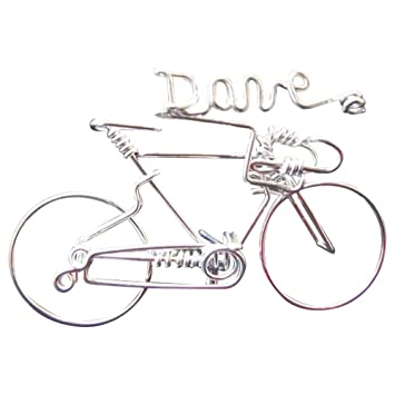 Handmade Personalized Valentine Gifts For Cyclists ~Add Your Own Name on Bicycle ~Custom Made