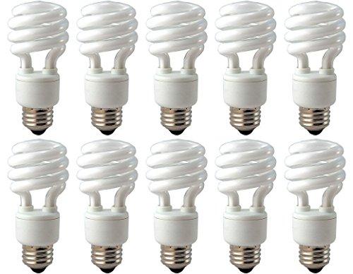 EiKO SP1327K Model SP13/27K Compact Fluorescent Light Bulb (Pack of 10), 120 Voltage Rating, 13 Watts, 210 mA, 69 Lumens per Watt, Medium Screw (E26) Base, 4.13
