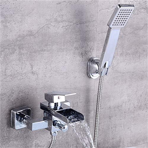 浴槽の蛇口 壁には、シャワーヘッドとバスタブ浴室浴槽フィラー真鍮の蛇口のためのシャワーをマウント キッチンバーのトイレで使用できます (Color : Silver a, Size : Free size)
