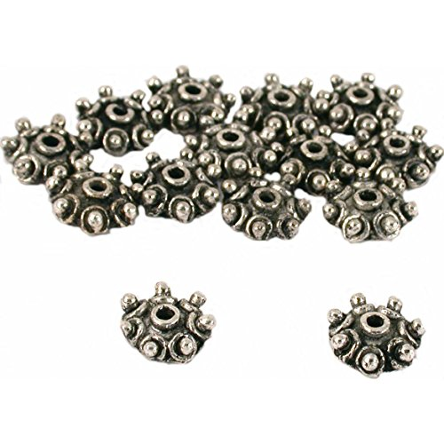 Bali Bead Caps Antique Silver Plated 10.5mm Approx (Bali Beads Beading)