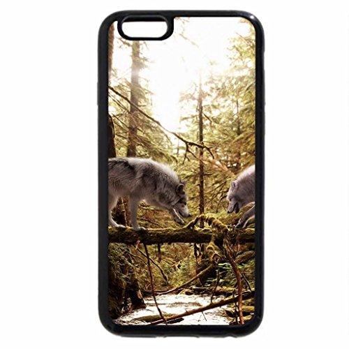 iPhone 6S / iPhone 6 Case (Black) Two Wolves Fantasy art