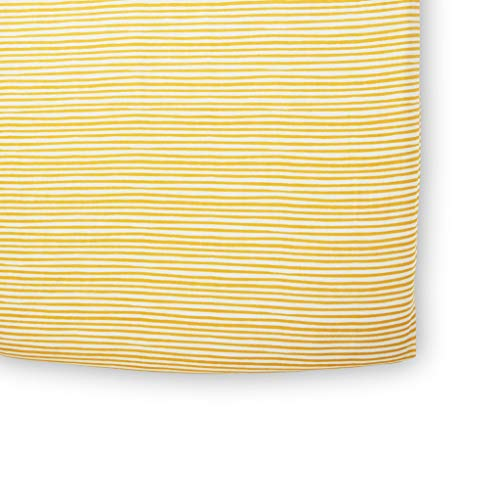 Stripe Marigold - Pehr Stripes Away Crib Sheet - Marigold, Multi