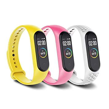 Simpeak 3 Pcs Correa Compatible con Xiaomi Mi Smart Band 4 / Mi Band 3 Pulsera Banda-Silicona Reloj de Recambio Coloridos Correas Compatible con Mi ...