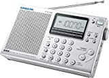 Sangean ATS-405 FM-Stereo/MW/LW/SW Synthesized World Receiver, Five Tuning Methods, Full Shortwave 14 Meter Band, SW Meter Band Selection, 45 Memory Preset Stations, Adjustable Sleep Timer