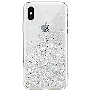 SwitchEasy Apple iPhone XS MAX 6.5 inches Starfield Series Case Cover, Transparent Crystal Clear, Luxury Fashion Glitter Hard case - Ultra Clear
