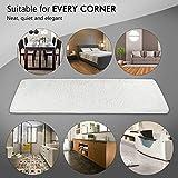 "YuanDa Bathroom Rugs, Soft Microfiber Non-Slip Rubber Bath Mat Anti-bacterial Rug (59"" L x 17.7"" W) - Machine Washable - Kids-Safe Carpet Mat for Living Room Bathroom Bedroom, White"