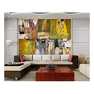 Peel and Stick Wallpapaer Famous Paintings Collage by Gustav Klimt Removable Large Wall Mural Creative Wall Decal, That You Will Love, Handsome Expert Craftsmanship