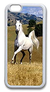 iphone 6 4.7inch Case and Cover White Horse 2 Animal TPU Silicone Rubber Case Cover for iPhone 6 White
