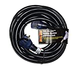 Pro Grip 8 Gauge STW 35 Foot Welding Extension Cord 40A-250V With Lighted Ends - Black
