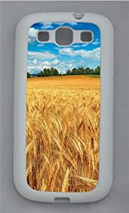 Wheat Field TPU Silicone Rubber Case Cover for Samsung Galaxy S3 SIII I9300 White