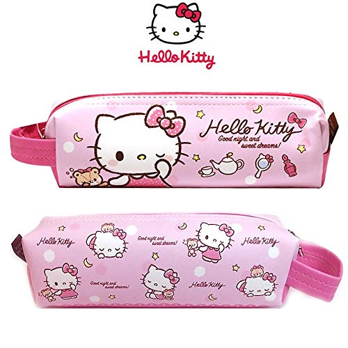 Sanrio Hello Kitty Pencil Case Multi-Purpose Pouch with Hanger 1PC (2 Designs Available) (Pink)