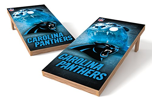 (Wild Sports NFL Carolina Panthers 2' x 4' Authentic Cornhole Game Set)