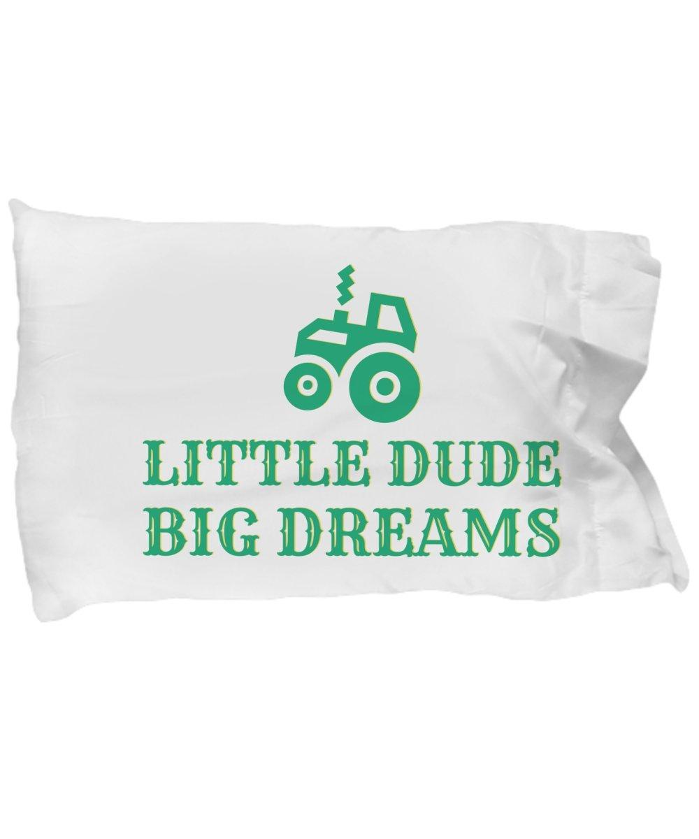Kool Kwip Designs Tractor Pillow Case-Farm Boy Bedding-Toddler Boy Farm Bedding-Tractor Bedding-Boys Farm Bedding-Tractor Decor for Boys-Green Tractor Decor-Little Dude