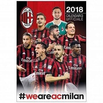 Milan Ac Calendrier.Officiel Ac Milan Serie A 2018 Soccer Calendrier Amazon Fr