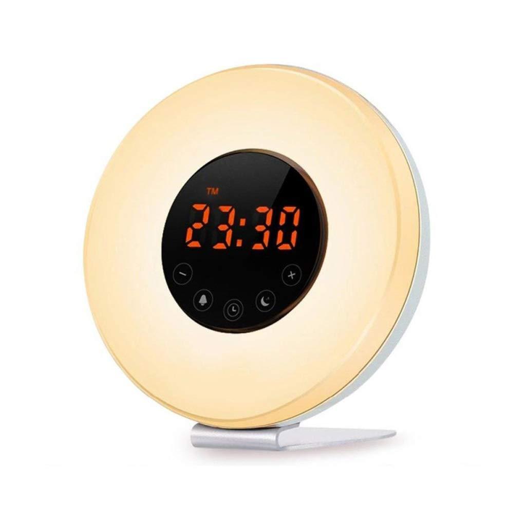 TD Wach Auf, Licht, Intelligent Natürlich Wake-up Light Wecker  Led Multifunktional Umgebungslicht Schlaflampe Simulation Sonnenaufgang Sonnenuntergang Q0025