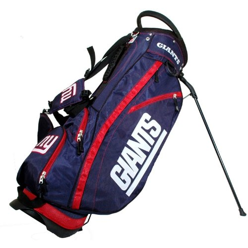Team Golf NFL New York Giants Fairway Golf Stand Bag, Lightweight, 14-way Top, Spring Action Stand, Insulated Cooler Pocket, Padded Strap, Umbrella Holder & Removable Rain Hood ()