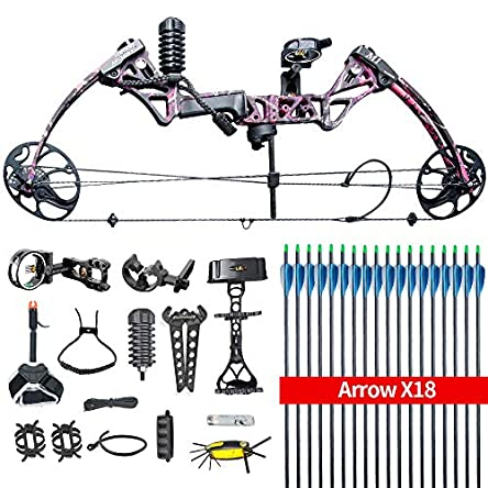 HYF Compound Hunting Bow Kit: USA Gordon Limbs,Fully...
