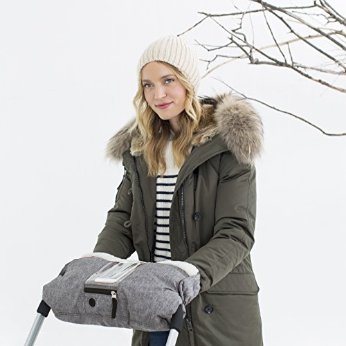Skip Hop Stroll-and-Go Three-Season Hand Muff, One Size, Heather Grey by Skip Hop (Image #2)