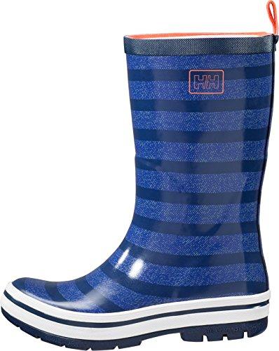 Helly Hansen Women's Waterproof Midsund 2 Rain Boots, Graphite Blue/Vintage Indigo/Aqua Blue (Matte), 5
