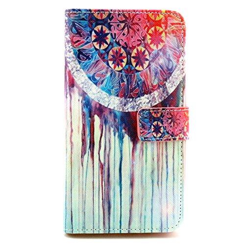 LG G3 Stylus Case, Unlocked,Queenbox New Fashion Pattern - LG G3 Stylus 3G D690 Unlocked Design Dual-Use Flip PU Leather Fold Wallet Pouch Case for LG G3 Stylus 3G D690[Oil Dream Pattern]