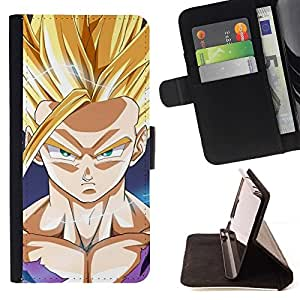 For Sony Xperia Z5 compact / mini - Dragon Ball /Leather Foilo Wallet Cover Case with Magnetic Closure/ - Super Marley Shop -