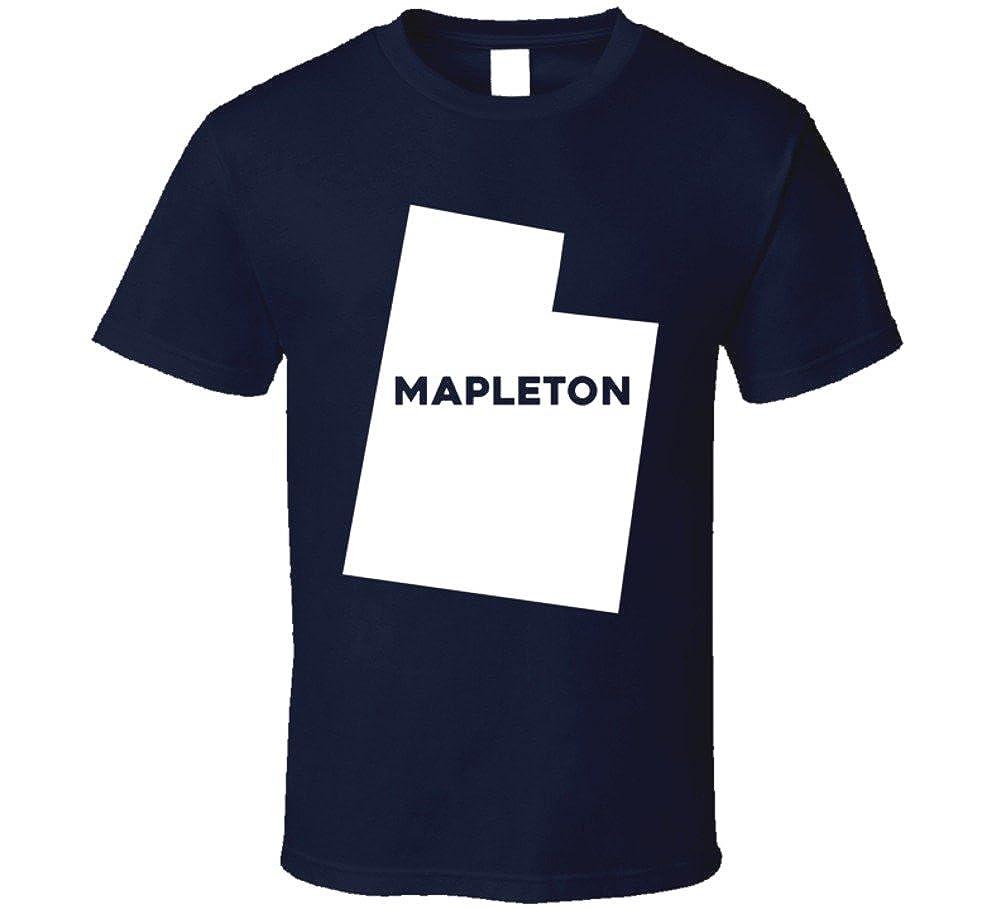 Amazon Com Mapleton Utah City Map Usa Pride T Shirt Clothing